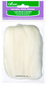 Natural Wool Roving - Off White