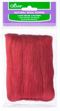 Load image into Gallery viewer, Natural Wool Roving - Red
