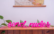 Load image into Gallery viewer, DIY Yarn Neon Sign Pre-Knitted Kit