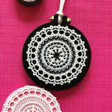 Load image into Gallery viewer, Black Miniature Embroidery Hoop Pack