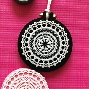 Black Miniature Embroidery Hoop Pack