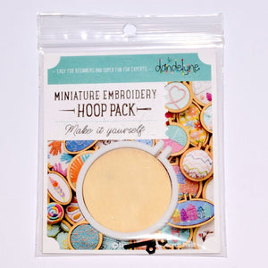White Miniature Embroidery Hoop Pack