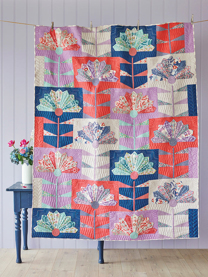 Fan Flower Quilt Kit