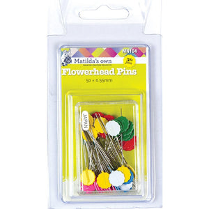 Flowerhead Pins 50mm x 0.55mm