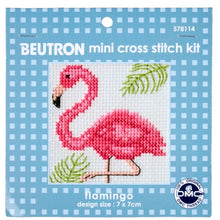 Load image into Gallery viewer, Flamingo Mini Cross Stitch Kit