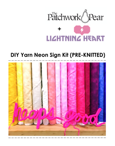 DIY Yarn Neon Sign Pre-Knitted Kit