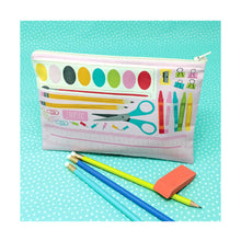 Load image into Gallery viewer, DIY School Supply Zipper Pouch