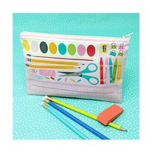 DIY School Supply Zipper Pouch