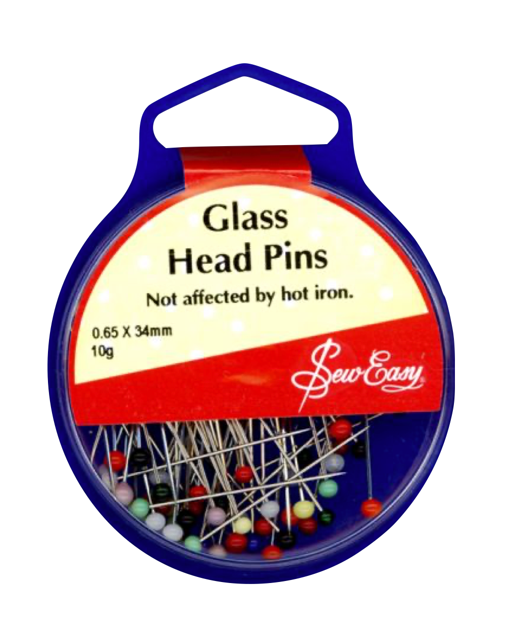 Glass Head Pins 34mm x 0.65mm