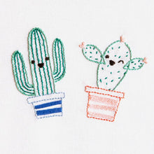 Load image into Gallery viewer, Smiling Cactus Embroidery Kit