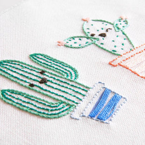 Smiling Cactus Embroidery Kit