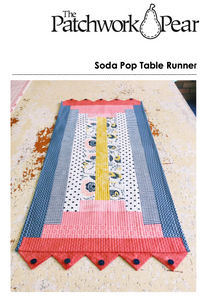 Soda Pop Table Runner Pattern PDF