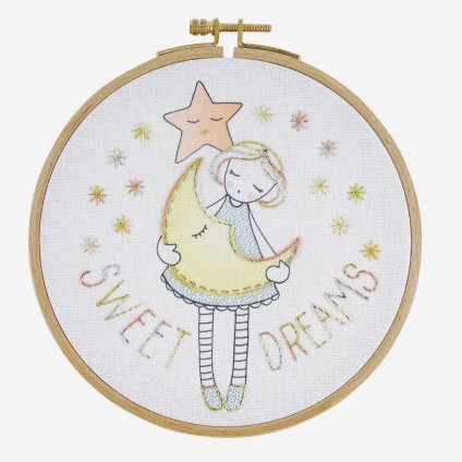 Sweet Dreams Kid's Craft Hand Embroidery Kit