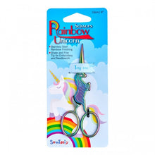 "Load image into Gallery viewer, 4"" Rainbow Unicorn Scissors"