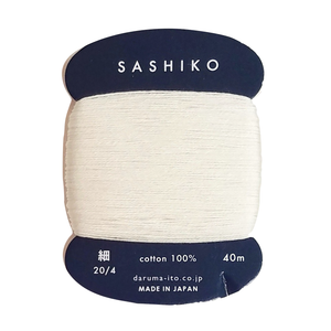 Sashiko Thread Thin Ecru 202 40mt