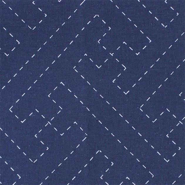 Sashiko Cloth Navy - Keys 210