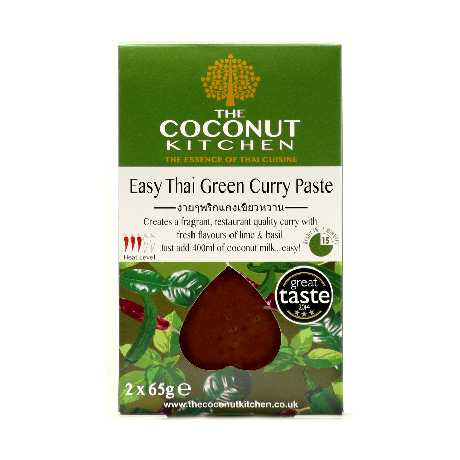 Coconut Kitchen Easy Green Curry Paste 2x65g