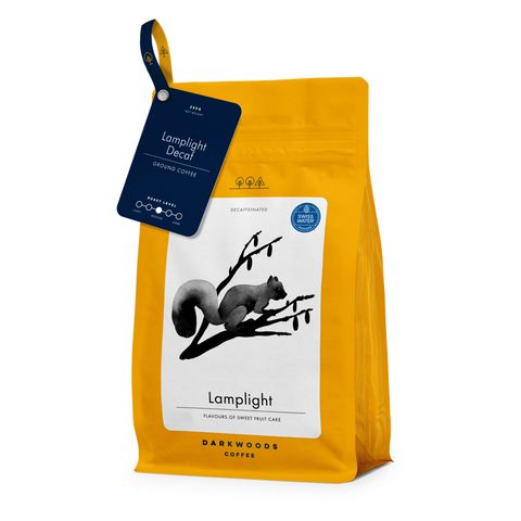 Darkwoods Lamplight Decaf Coffee Beans 250g