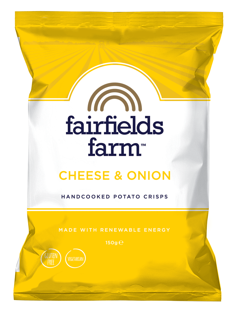FAIRFIELDS FARM CRISPS - CHEESE & ONION 150G