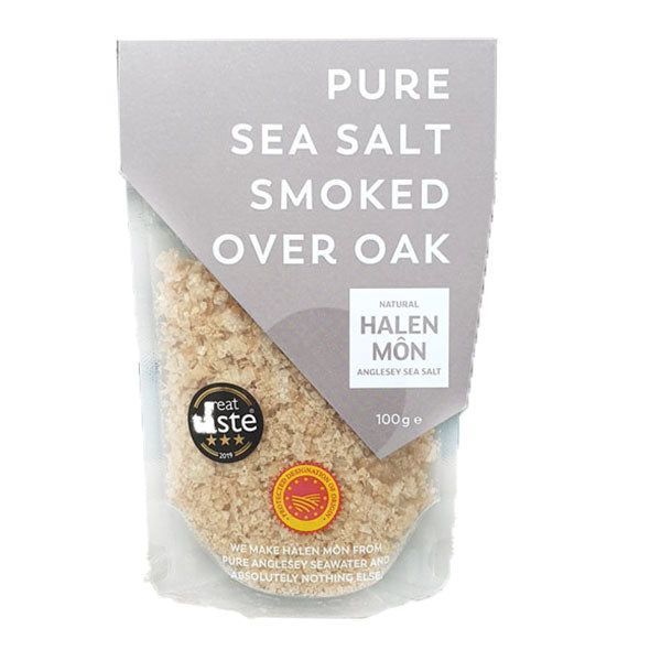 Halen Mon Oak Smoked Pure Sea Salt 100g