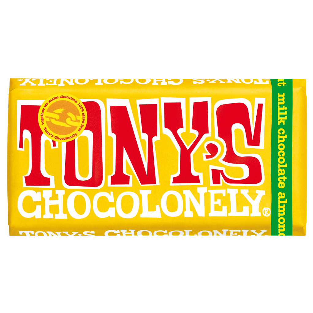 Tony's Chocolonely 32% Milk Chocolate Almond Honey Nougat 180g