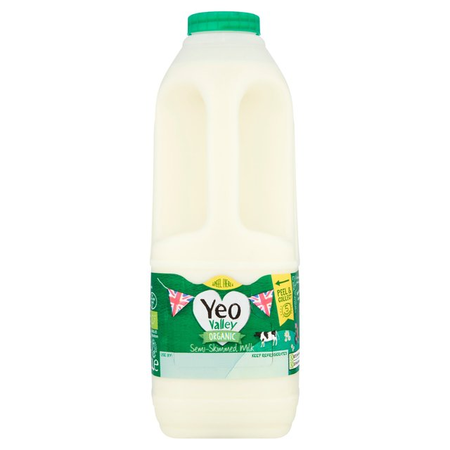 Milk - Yeo Valley Organic Semi-Skimmed 2 Litres