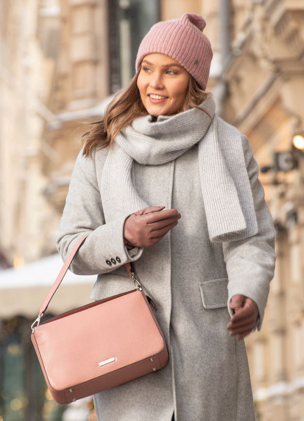 soraya nahkalaukku leather purse bag lasessor kotimainen rosa