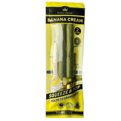 King Palm Slim Banana Cream 2 Pack