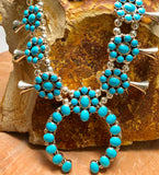 navajo turquoise squash blossom necklace in santa fe