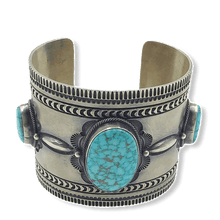 Load image into Gallery viewer, Aaron Toadlena Navajo Kingman Turquoise Bracelet