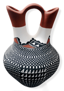 Acoma 3 Color Wedding Vase by Melissa Antonio