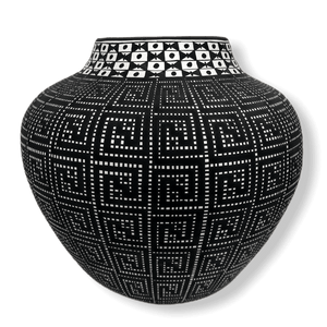 Acoma Black And White Pot By Melissa Antonio