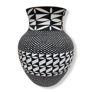 Acoma Black And White Vase By Melissa Antonio