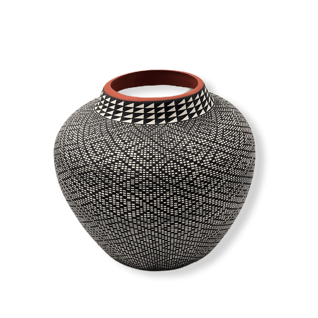 Acoma Black & White Pot by Melissa Antonio