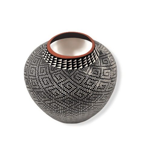 Image of Acoma Black & White Pot By Melissa Antonio