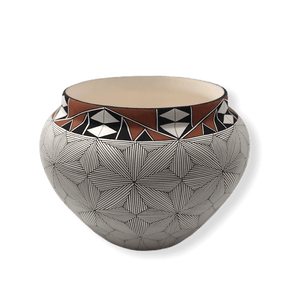 Acoma Flower Pattern Fine Line Pot
