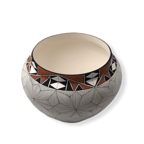 Image of Acoma Flower Pattern Fine Line Pot