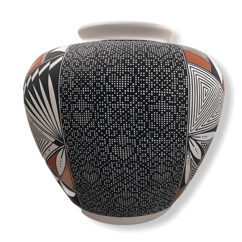 Image of Acoma Heart Eye Dazzler & Traditional Design Pot
