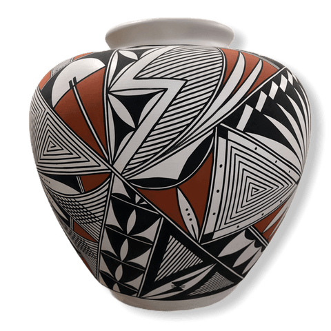 Acoma Heart Eye Dazzler & Traditional Design Pot