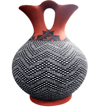 Load image into Gallery viewer, Acoma Large Wedding Vase by M. Antonio