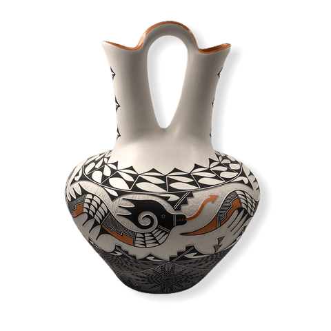 Image of Acoma Large Wedding Vase W/ Avanyu