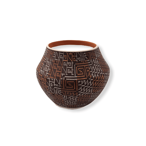 Image of Acoma Multi-Color Pot By Frederica Antonio