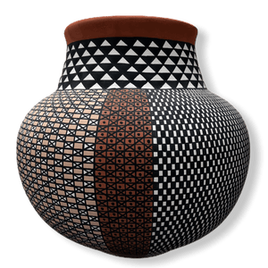 Acoma Multi Design Geometric Pot By Melissa Antonio
