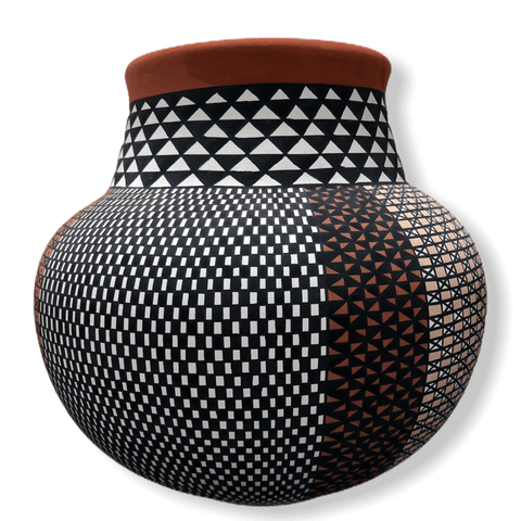 Image of Acoma Multi Design Geometric Pot By Melissa Antonio