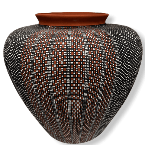 Image of Acoma Multi Design Pot By Melissa Antonio