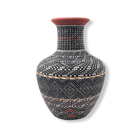 Acoma Multi Pattern Pot By M. Antonio