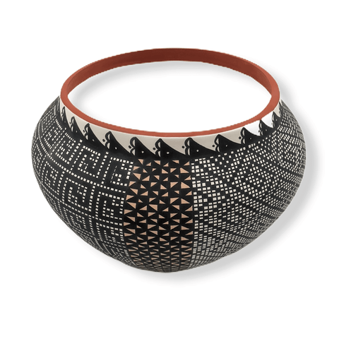 Image of Acoma Multi-Pattern  Pot By M. Antonio