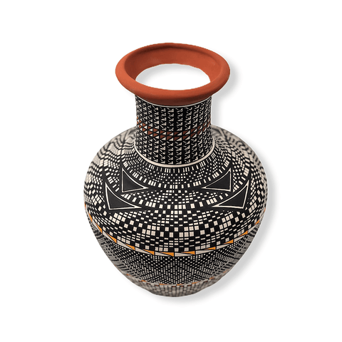 Image of Acoma Multi Pattern Pot By M. Antonio