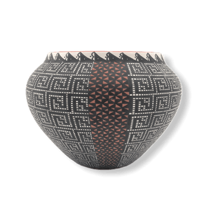 Acoma Multi-Pattern  Pot By M. Antonio