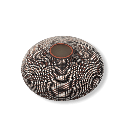Image of Acoma Multi-Wave Spiral  Pot By Melissa Antonio